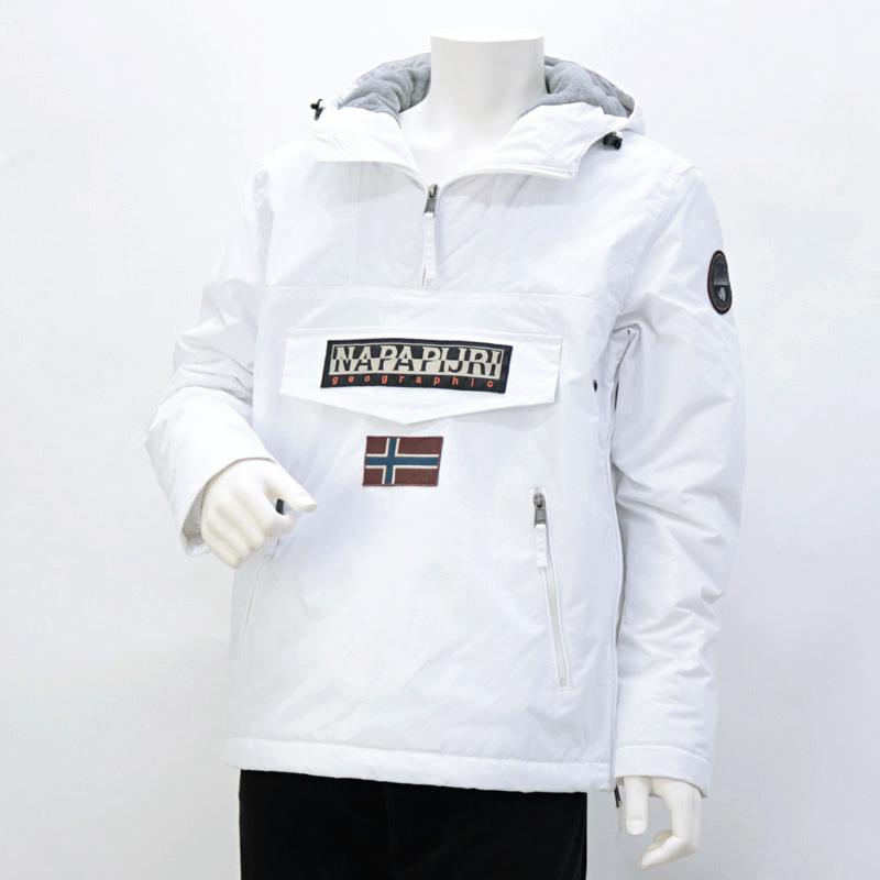 ナパピリ NAPAPIJRI RAINFOREST POCKET メンズ トップス マウンテンパーカー オフホワイト (N0YGNL 002 BRIGHT WHITE【B】)