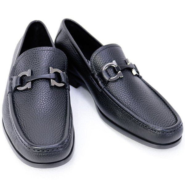 2018年秋冬 サルバトーレ フェラガモ Salvatore Ferragamo 靴 メンズ ガンチーニ ビジネスシューズ ローファー ブラック (GRANDIOSO 0642848 NERO)