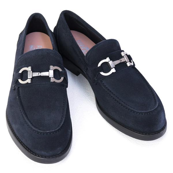 サルバトーレ フェラガモ Salvatore Ferragamo 靴 メンズ ガンチーニ ビジネスシューズ ローファー ダークブルー (ARLIN 0704234 DARK BLUE)
