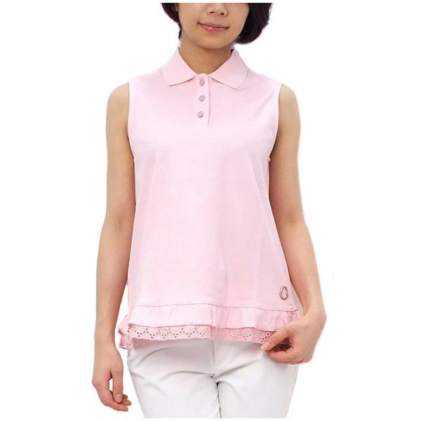 モンクレール MONCLER レディース ノースリーブ ポロシャツ ライトピンク (41 093 8385200 500 LPK)