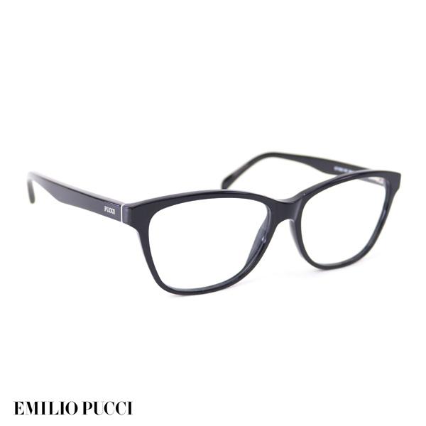 エミリオプッチ EMILIO PUCCI レディース メガネフレーム ブラック (EP5024 001 BK)