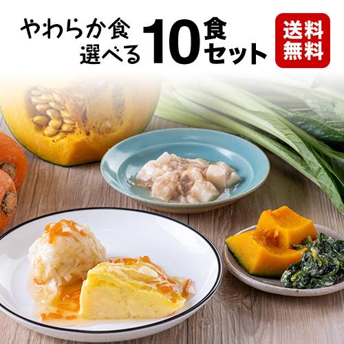 お好みに合わせて選べる冷凍弁当10食セット(おかずのみ) 【送料無料】やわらか食 自由に選べる10食セット
