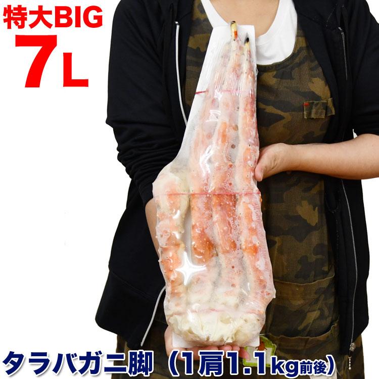 タラバガニ 超特大7L 脚 1.1kg1肩 かに 足 カニ蟹パーティ ボイル (多少たし折れ込みの場合あり) フーズランド北海道