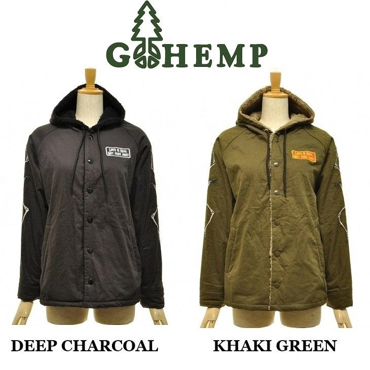 【送料無料】【WOMEN'S】GOHEMP ゴーヘンプ COACH PARKA コーチパーカーARMY HEMP TWILL ヘンプツイル 裏地にはソフトボアを使用 ヘンプ コットン ジャケット