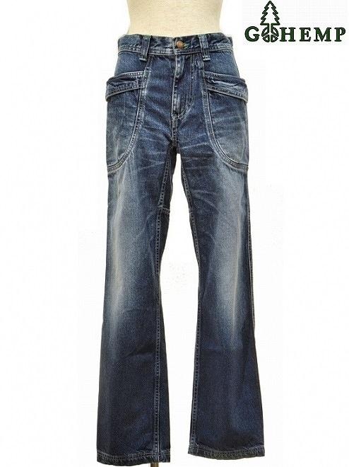 【送料無料】【WOMEN'S】GOHEMP (ゴーヘンプ)VENDOR FITS PANTS (USED WASH)ベンダーフィットパンツ HEMP COTTON DENIMを使用したVENDOR FIT PANTSです。