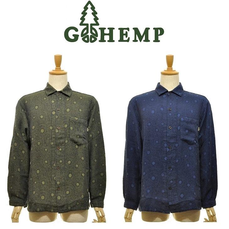 【MEN'S】GOHEMPゴーヘンプ SHITAMACHI L/SL SHIRTS シタマチロングスリーブシャツ GOMA ART JACQUARD 活動20周年を迎えたディジュリドゥ奏者で あり画家のGOMAとのコラボレーションシリーズ