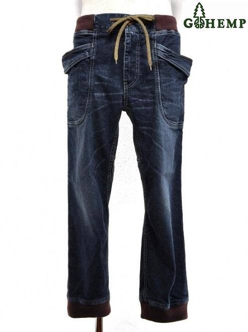【MEN'S】GOHEMP (ゴーヘンプ)VENDOR RIB PANTS(USED WASH)ベンダーリブパンツ、ハイレベルなウォッシュ加工 STRECH DENIMを使用