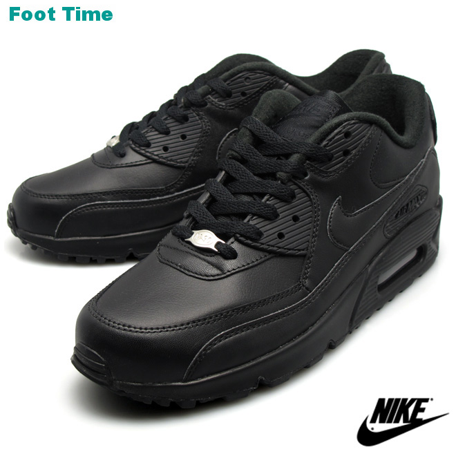 9dcb324fe346 In the promise of the Nike Air Max 90 leather black NIKE AIR MAX 90 LEATHER  BLACK BLACK 302519-001 men s sneakers arrival report view