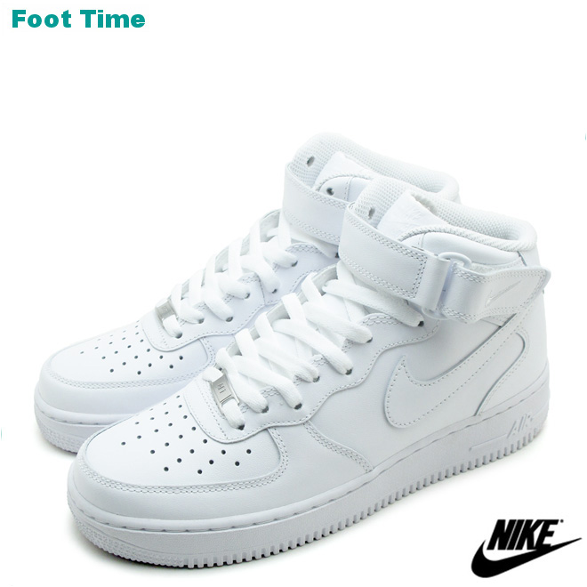 Nike air force one mid 07 NIKE AIR FORCE 1 MID 07 black   white WHITE WHITE  315123-111 mens sneakers 265753aaf1