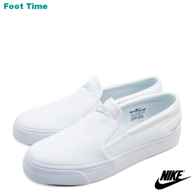 8a77acf8e5f9 Nike women Toki slip canvas NIKE WMNS TOKI SLIP CANVAS white   プラチナム WHITE PLATINUM  724