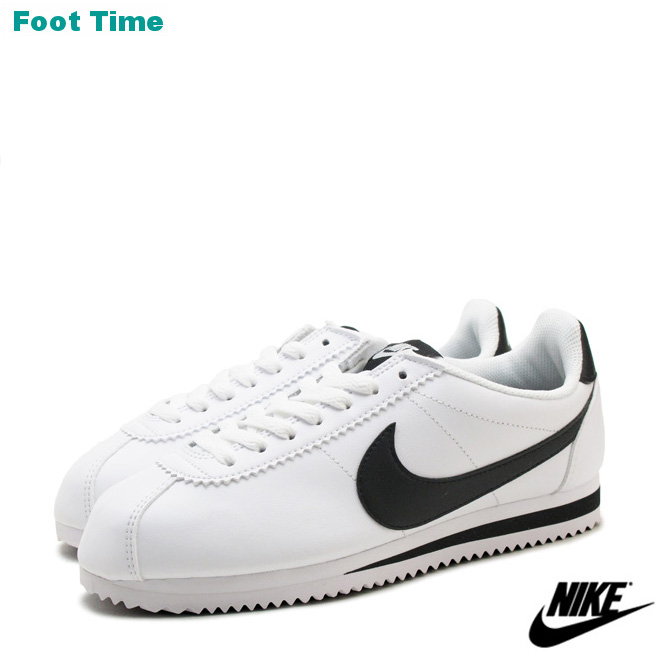 f2b35c8c2882 Nike womens classic Cortez leather NIKE WMNS CLASSIC CORTEZ LEATHER white    black   white WHITE BLACK WHITE 807471-101 women s sneakers