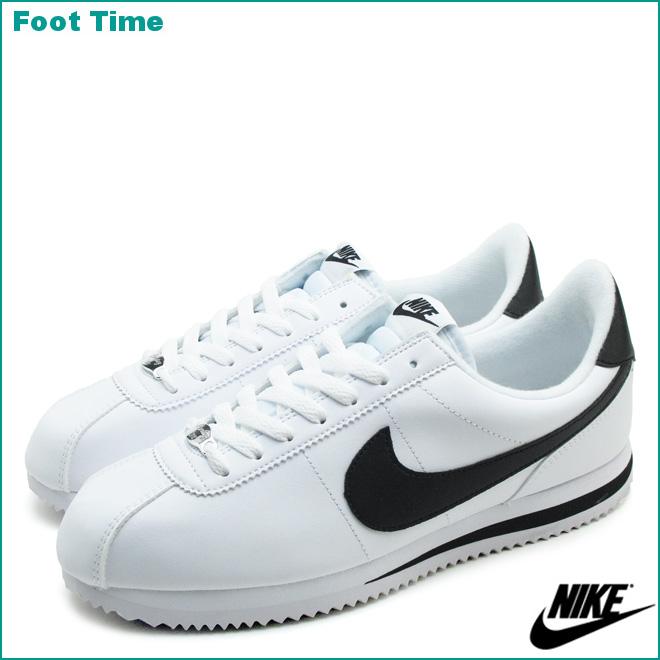 nike cortez basic leather white