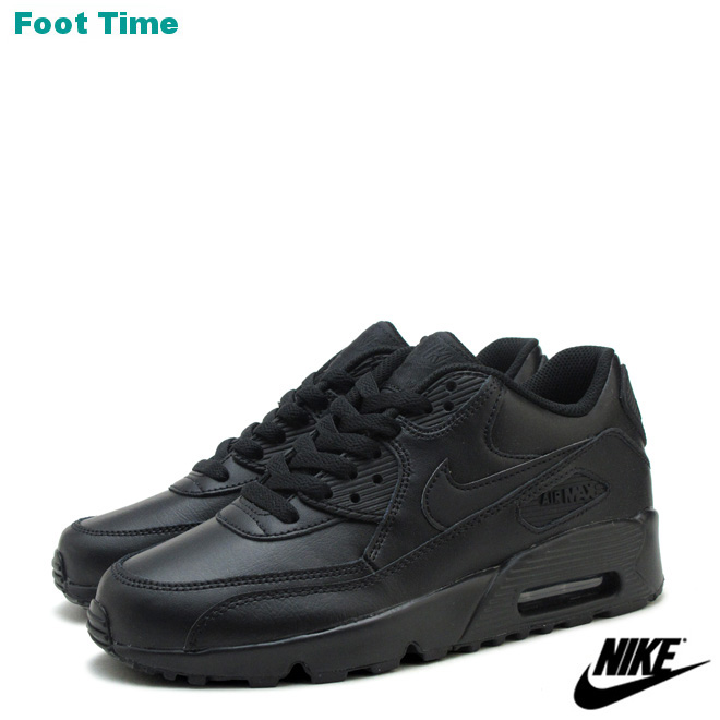 sale retailer 865ff 9c507 Nike Air Max 90 leather GS NIKE AIR MAX 90 LTR GS Black   Black BLACK ...