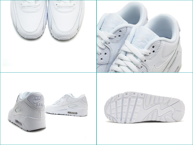 7d75e027ad Foot Time: Nike Air Max 90 leather GS NIKE AIR MAX 90 LTR GS white ...