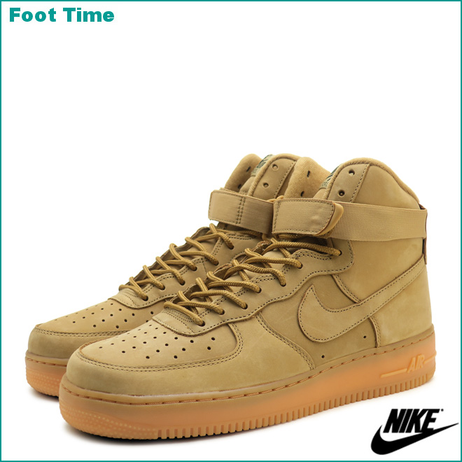 Mens Womens Shoes Nike Air Force 1 Low GS Flax Wheat Flax Outdoor Green Gum Light Brown 888853 200 888853 200