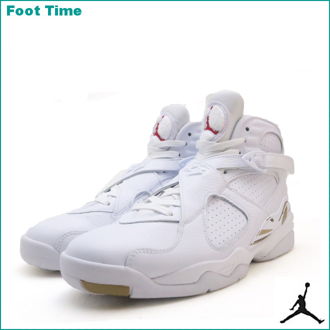 jordan 8 retro men gold and white