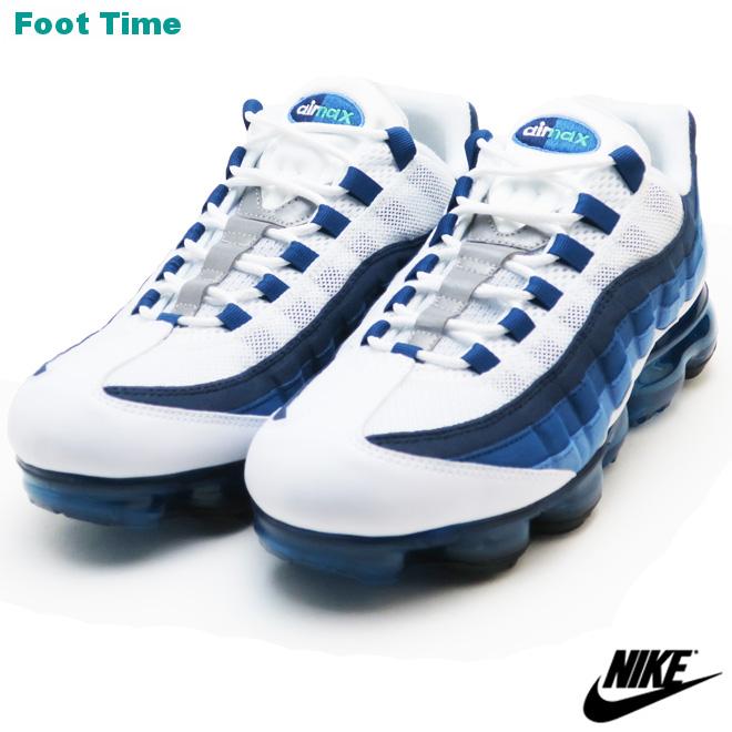 16b801857c475 Nike air vapor max 95 NIKE AIR VAPORMAX 95 men s sneakers white   new green    French blue WHITE NEW GREEN FRENCH BLUE AJ7292-100