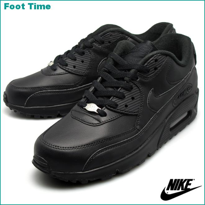 50f12cb263 france air max 90 black leather on feet 73ce9 6efaf