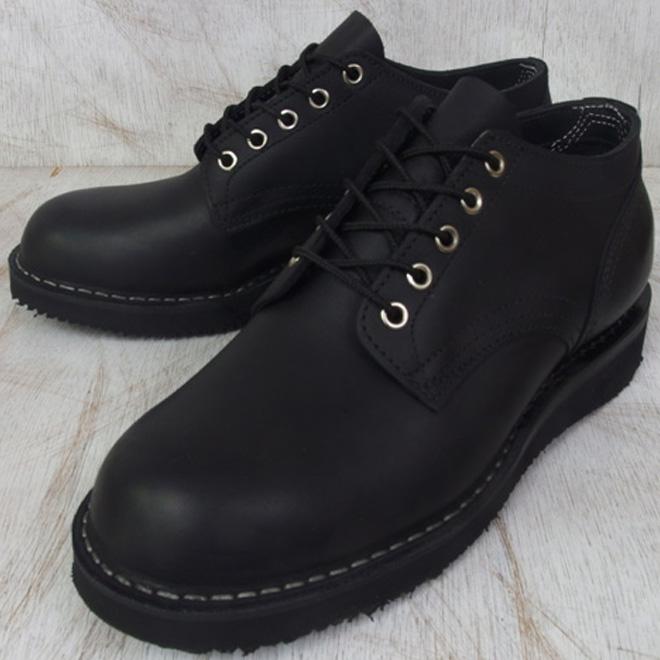 ハソーン オックスフォード ブラック レザー メンズ ブーツ  HATHORN OXFORD RAINIER 104NWC BLACK LEATHER