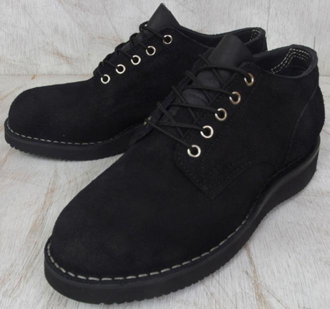ハソーン オックスフォード ブラック ラフアウト スエードレザー メンズ ブーツ  HATHORN OXFORD RAINIER 104NWC BLACK ROUGHOUT LEATHER