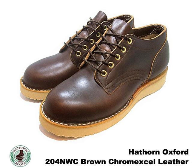 ハソーン オックスフォード ブラウン ホーウィン クロムエクセル レザー メンズ ブーツ  HATHORN OXFORD RAINIER 204NWC BROWN HORWEEN CHROMEXCEL LEATHER