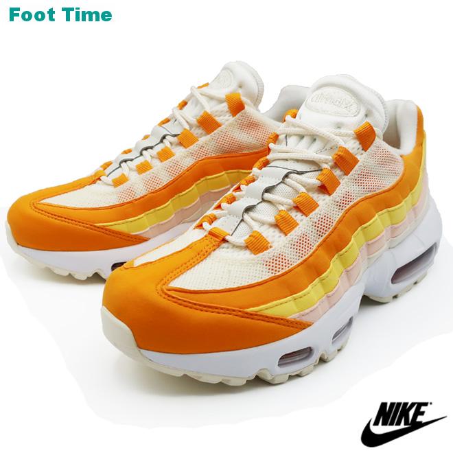 le dernier c7048 1ceb5 NIKE WMNS AIR MAX 95 Nike women Air Max 95 Lady's sneakers PALE  IVORY/FIREWOOD ORANGE Peer ivory / fire Wood orange 307,960-114