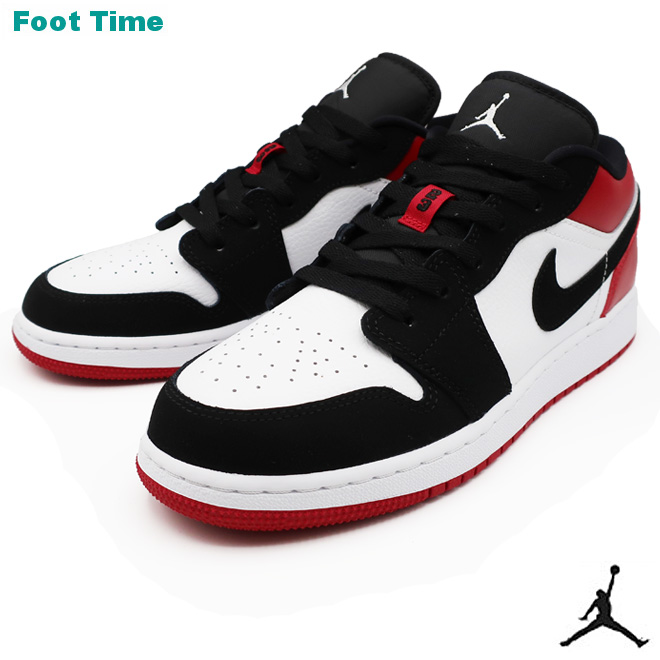 size 40 d0f67 590b2 NIKE AIR JORDAN 1 LOW GS Nike Air Jordan 1 low GS shoes Lady's shoes youth  sneakers WHITE/BLACK-GYM RED white / black - gym red 553,560-116