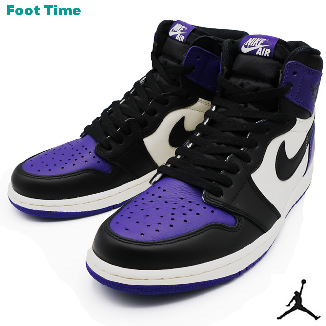 ce156c6e25d Nike Air Jordan 1 nostalgic high OG NIKE AIR JORDAN 1 RETRO HIGH OG men  sneakers coat purple   black - sail COURT PURPLE BLACK-SAIL 555