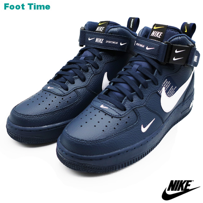 Nike Air Force One mid  07 エレベイト NIKE AIR FORCE 1 MID  07 LV8  メンズスニーカーオブシディアン   white - black OBSIDIAN WHITE-BLACK 804 7992580a5
