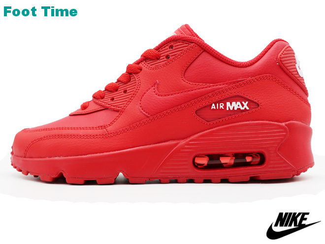 4153c30d17 ... Kie Ney AMAX 90 leather GS NIKE AIR MAX 90 LTR GS university red / white  ...