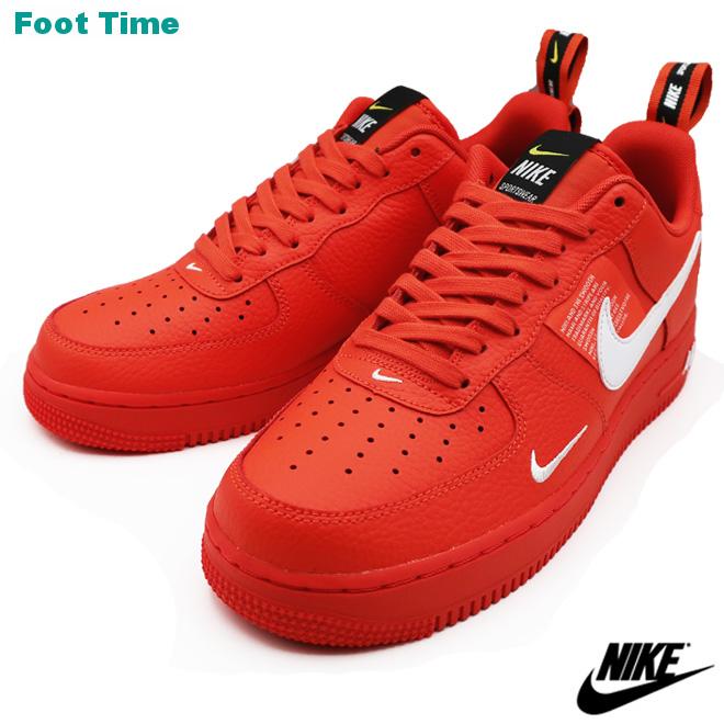 Nike Air Force One 07 エレベイトユーティリティー Nike Air Force 1 07 Lv8 Utility Men Sneakers Team Orange White Black Team