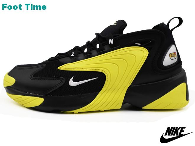 NIKE ZOOM 2Kナイキ ズーム 2KBLACK WHITE DYNAMIC YELLOWブラック ホワイト ダイナミックイエローAO0269 006靴 メンズ靴 スニーカーRj354AqL
