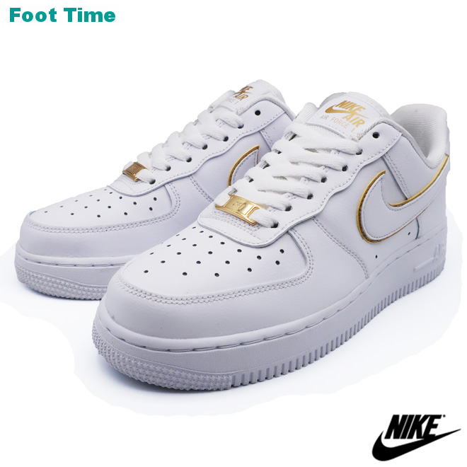 NIKE WMNS AIR FORCE 1 '07 ESS Nike women Air Force One '07 ESS WHITEWHITE METALLIC GOLD white white metallic gold AO2132 102 shoes Lady's shoes