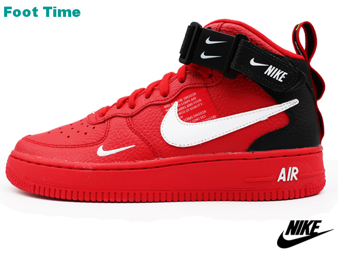 b670e3ece4 ... Nike Air Force One mid LV8 GS NIKE AIR FORCE 1 MID LV8 GS university red  ...