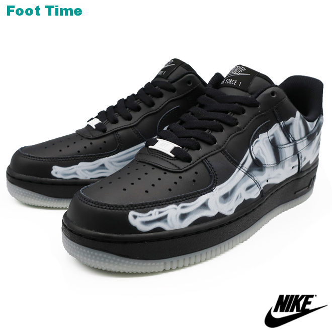 スニーカーシーンを牽引し続ける不朽の名作「NIKE AIR FORCE 1」 NIKE AIR FORCE 1 '07 SKELETON QS ナイキ エア フォース ワン '07 スケルトン QS BLACK/BLACK-BLACK ブラック/ブラック-ブラック BQ7541-001 靴 メンズ靴 スニーカー
