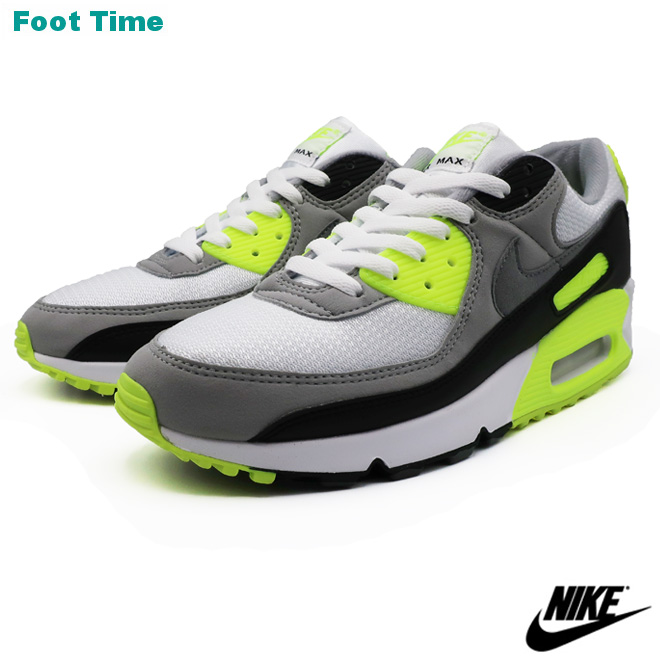 NIKE AIR MAX 90 Kie Ney AMAX 90 WHITEPARTICLE GREY VOLT BLACK white particle gray bolt black CD0881 103 shoes men shoes sneakers