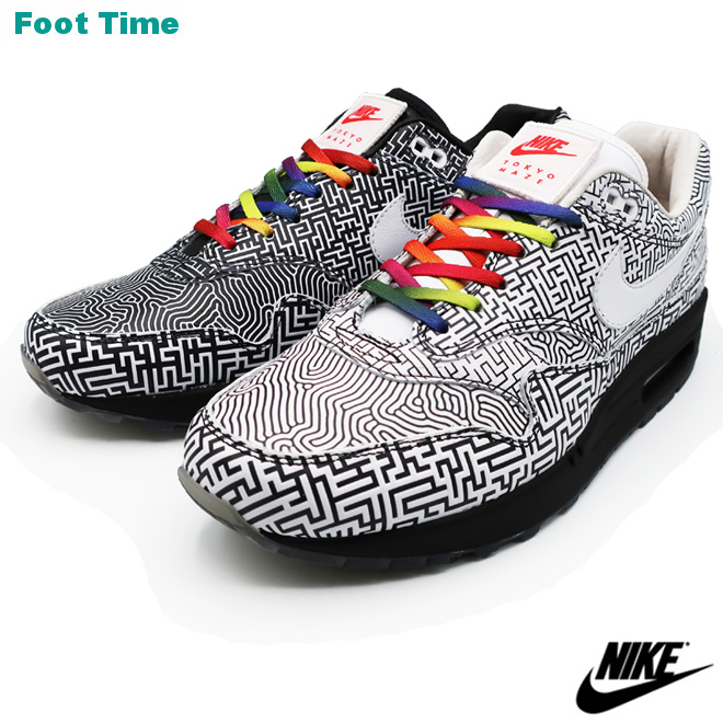 b33dea276688 Foot Time  NIKE AIR MAX 1 OA YT Kie Ney AMAX 1 OA YT BLACK WHITE-HABANERO  RED black   white - habanero red men shoes sneakers CI1505-001
