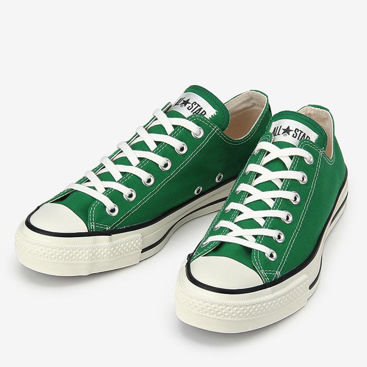 CONVERSE CANVAS ALL STAR J OX コンバース キャンバス オールスター J オックスフォード  GREEN グリーン 31300650 靴 メンズ靴 スニーカー