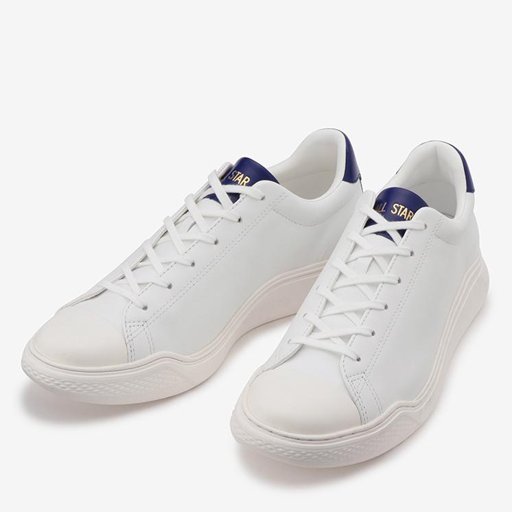 CONVERSE ALL STAR COUPE COURBE LEATHER OX コンバース オールスター クップ クルベ レザー OX  WHITE/NAVY ホワイト/ネイビー 31301781 靴 メンズ靴 レディース靴 スニーカー