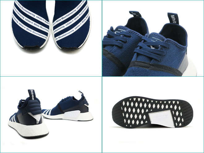 778bb54ba Adidas originals WM N M D R2 PK adidas ORIGINALS WM NMD R2 PK by White  Mountaineering college navy   running white   running white COLLEGIATE NAVY RUNNING  ...