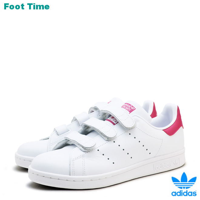 Adidas Stan Smith CF J adidas STAN SMITH CF J white white pink WHITEWHITEPINK CG3619 Lady's youth sneakers