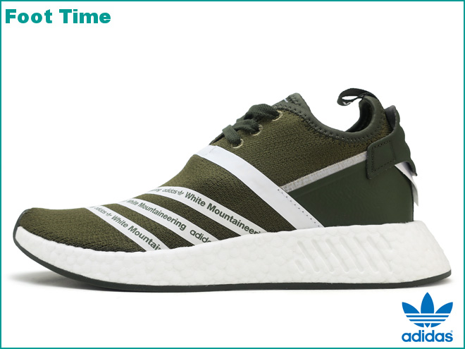 cccb2666dcbd1 Adidas originals WM N M D R2 PK adidas ORIGINALS WM NMD R2 PK by White  Mountaineering trace olive   running white TRACE OLIVE RUNNING WHT CG3649  men ...
