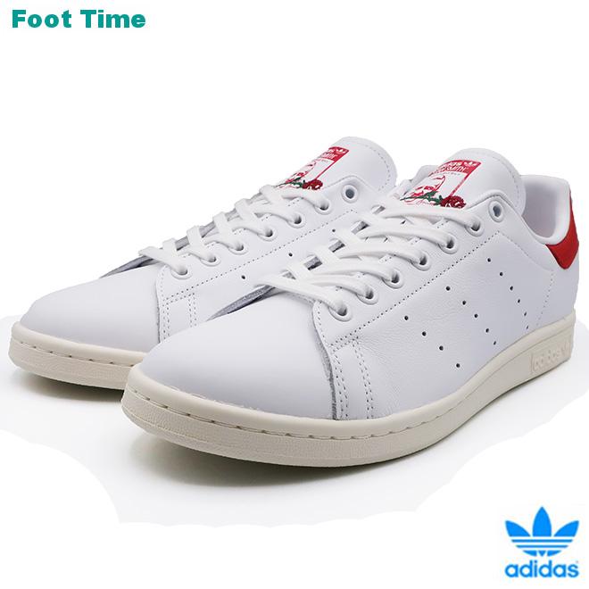 adidas Originals STAN SMITH アディダス オリジナルス スタンスミス FTWWHT/FTWWHT/SCARLE ホワイト/ホワイト/スカーレット EH1736 靴 メンズ靴 レディース靴 スニーカー