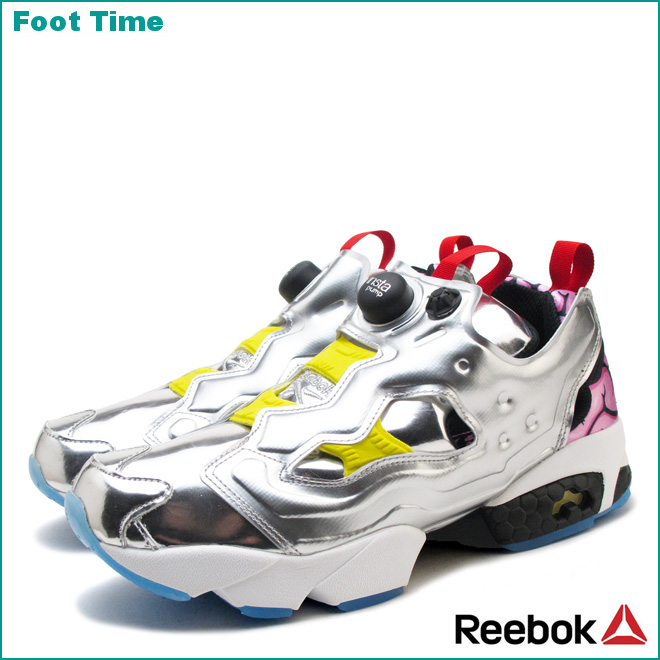 Reebok insta pump fury OG VP Reebok INSTAPUMP FURY OG VP Silver metallic   black  bright yellow SILV METBLACKBRIGHT YELLOW AR1445 mens Womens  sneakers