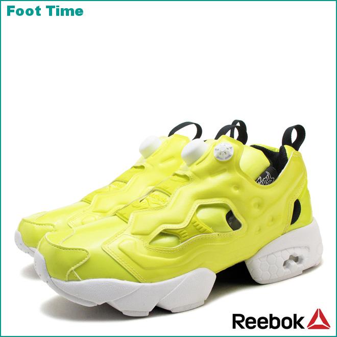 Reebok insta pump fury OB Reebok INSTAPUMP FURY OB heroyellow / white /  black HERO YELLOW/WHITE/BLACK AR1606 mens Womens sneakers