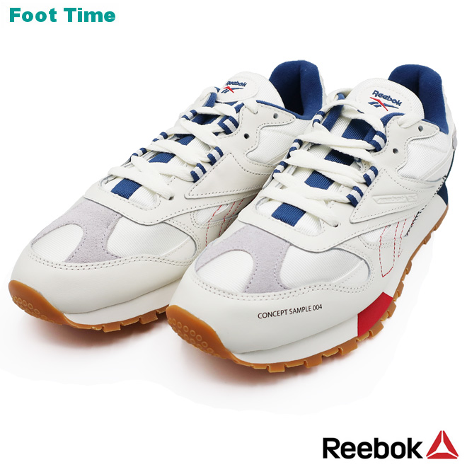 Reebok CL leather ATI 90S REEBOK CL LEATHER ATI 90S chalk   gray   wash  blue   red CHALK GREY WASHEDBLUE RED DV5372 men sneakers 1d03fd3cc