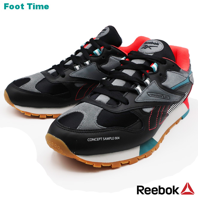 REEBOK CL LEATHER ATI 90S Reebok CL leather ATI 90S BLACKALLOYNEON REDMIST black alloy neon red mist DV6257 sneakers men