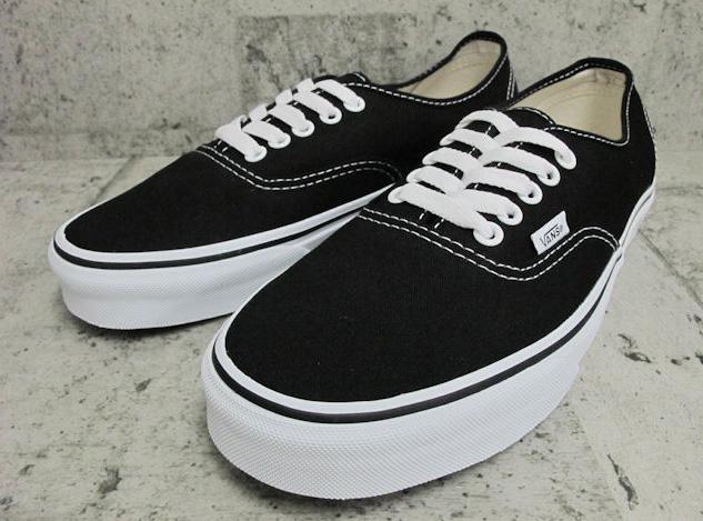Foot Time  VANS AUTHENTIC BLACK VN-0EE3BLK  7d778a1887