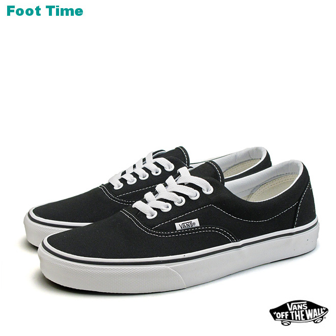In the promise of the vans era VANS ERA black / white BLACK/WHITE  VN-0EWZBLK mens sneakers arrival report views