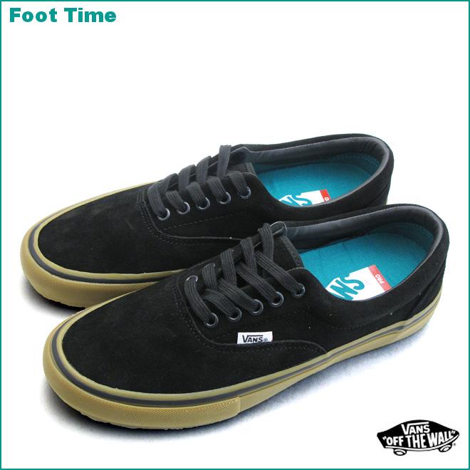 vans era black gum on feet